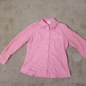 Pink button-down dress shirt